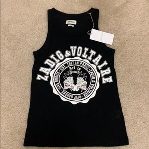 NWT Zadig & Voltaire mesh tank top